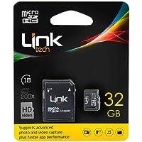 Linktech 32GB Class 10 Micro SD Hafıza Kartı + SD Adaptör