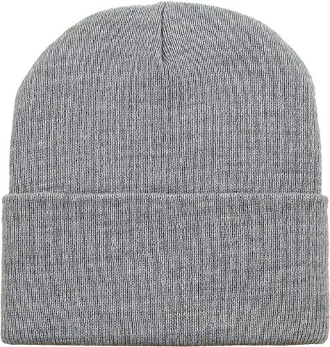 SKIHAT-LONG LGY Solid Plain Beanie Skully Made in USA ()