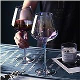 Amesser Crystal Wine Glasses 22 - Ounce Set of 2, Lead·Free Handblown Italian Style Stemware Wine glass for Burgundy, Caberne