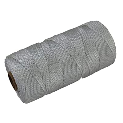 Braided Nylon Seine Twine #18 - SGT KNOTS - 100% Nylon Fiber - Durable Utility Twine - for Crafting, Home Improvement, Decoy Lines, Mason Lines, Fishing Nets, Construction (1167 feet - White) : Office Products