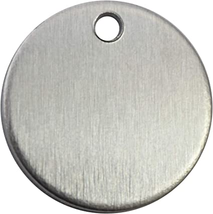 PVC on Both Sides Aluminum 0.063 Inch 14 Ga. RMP Stamping Blanks 5//8 Inch Round with Hole 50 Pack