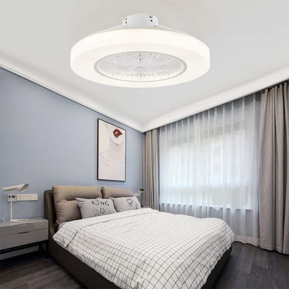 AWISAWIS Ventilador de Techo con Lámpara LED Silencioso Control Remoto Luz de Techo 3 Velocidades, 3 Colores Regulables Lámpara de Techo para Sala de Estar Dormitorio,Gris