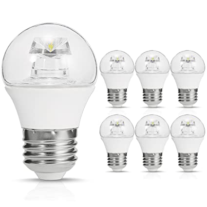 SmartinLiving Bombillas LED Globo, G14 Mini Bombillas LED, E26 Base, 5W (40 W bombilla incandescente de ...