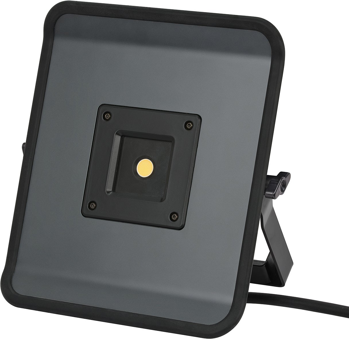 Brennenstuhl Compact LED-Leuchte / LED Strahler mit 50W Leistung und 5m Kabel (Baustrahler fü r auß en und innen, ideal als Arbeitsleuchte) Farbe: grau 1171330512