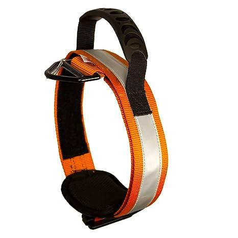 Fusion Pets Trekker Ajustable de Alta Visibilidad Collar Militar táctica de la policía K9 ergonómico Reflectante