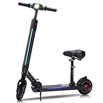 Goplus patinete eléctrico plegable, scooter de patada ...