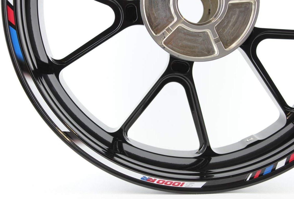 IMPRESSIATA Kit di Decalcomanie e Adesivi Completi GG Blu Bianco Rosso per Cerchi da 17 Pollici compatibili con BMW S1000RR