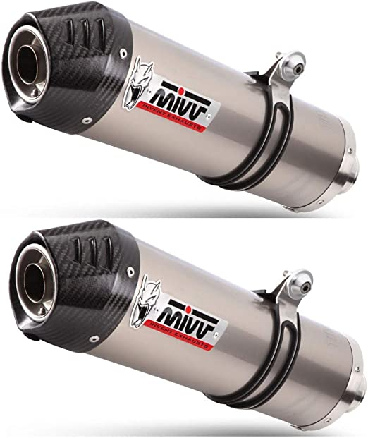 Yamaha XT 660 R/X-04/16-paire de silencioso MIVV Oval titane ...