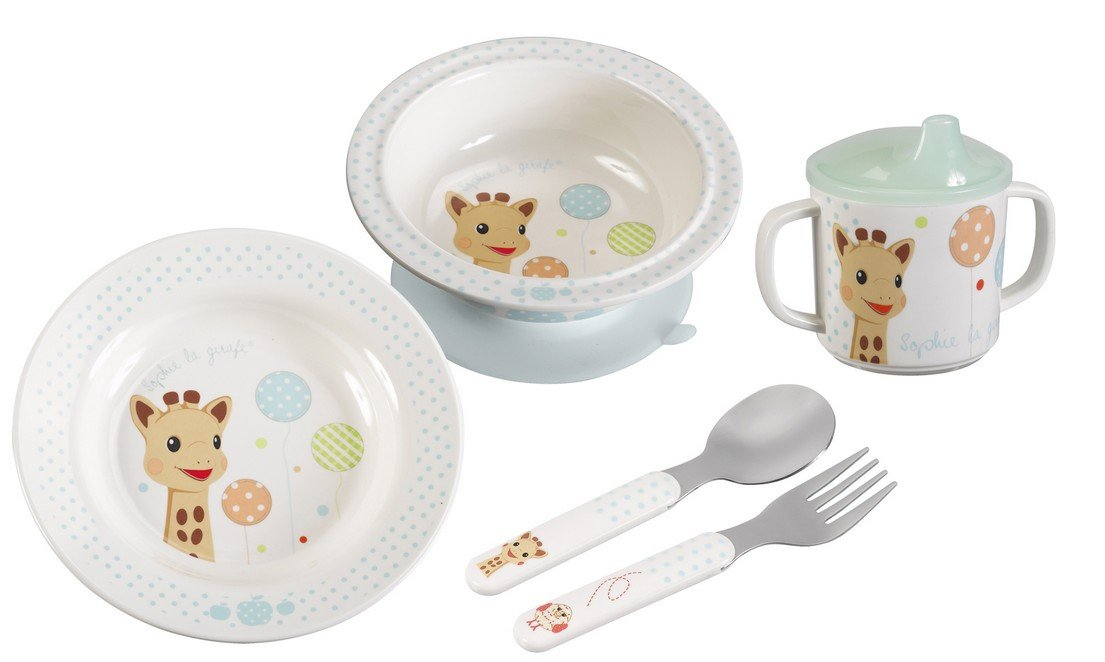 Spoon and Bib Sophie la girafe My First Mealtime Gift Box Plate Sippy Cup