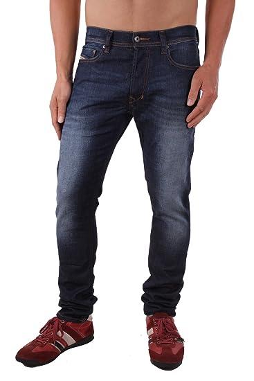 862c2509 Diesel Tepphar 0RF06_Stretch Men's Jeans Trousers Slim Carrot (W26/L32, Blue )