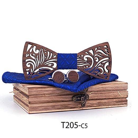 KQYAN-cravates et noeud papillon Corbata de Mariposa de Madera ...