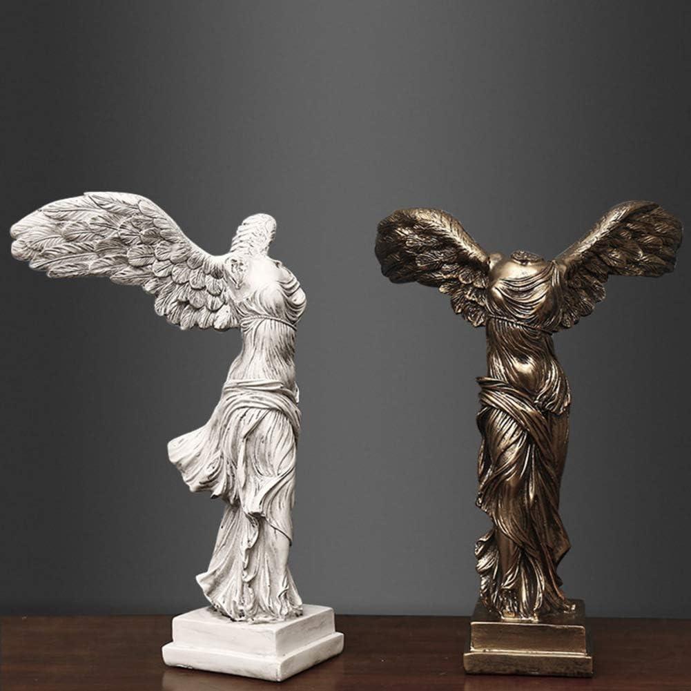 YB/&GQ Grande Dieu Grec Sculpture,Romain Victoire Ail/ée De Samothrace Figurines,d/éesse Victoria Statues,r/éplique du Louvre,marbre Ornements Blanc 30x22x16cm 12x9x6inch