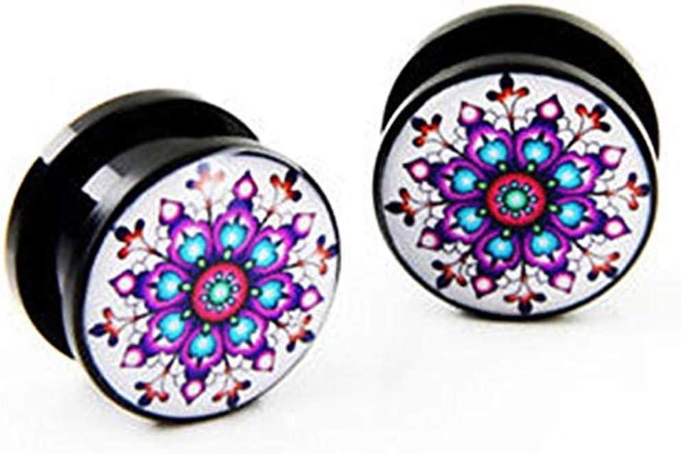 JewelryVolt Pair Acrylic Pink Glitter coated Screw EAR Flesh PLUGS GAUGES