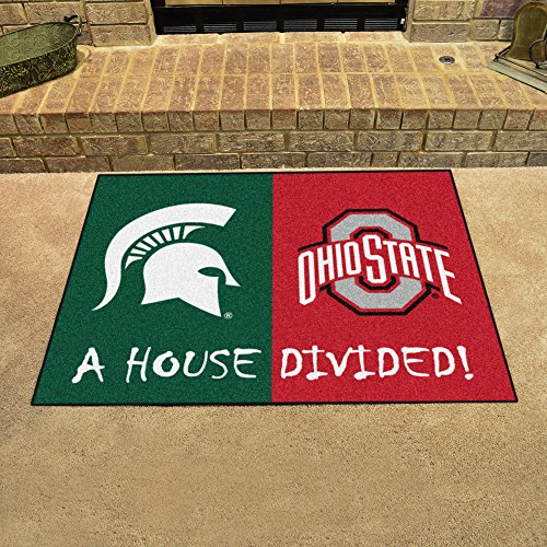 FANMATS Michigan State - Ohio State House Divided Rug 33.75
