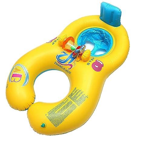 Madre Baby Piscina Flotador, inflable Caja de seguridad suave madre bebé asiento anillo de natación