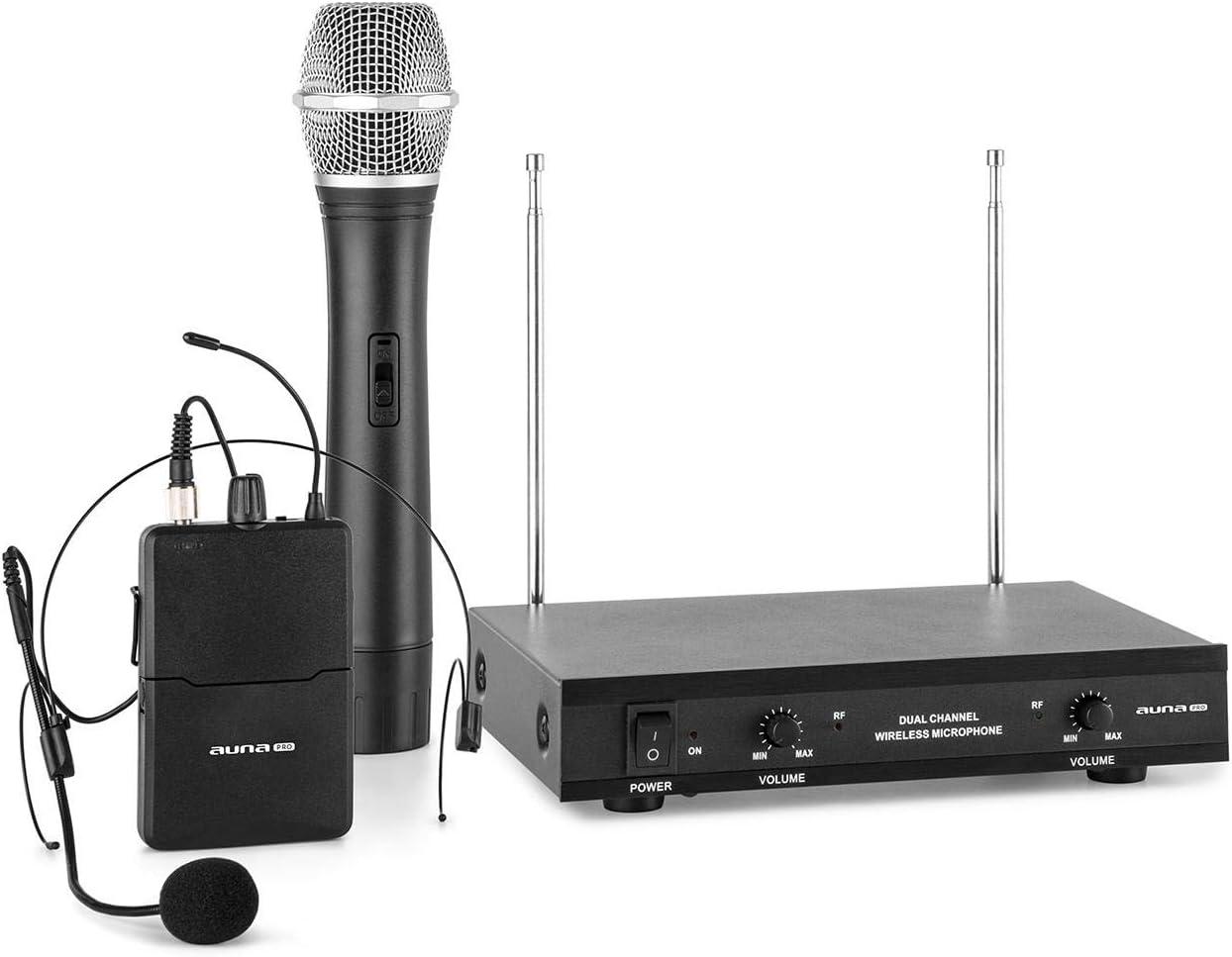 2-Kanal-drahtloses dynamisches Dual-Handheld-Mikrofonsystem Tangxi Drahtloses Handmikrofon drahtloses Karaoke-Audiomikrofon f/ür Konferenz//Computer 50-m-Empfang