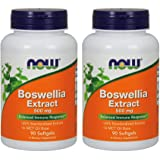 Now Foods Boswellia Extract 500 mg Softgels, 90 Count x 2