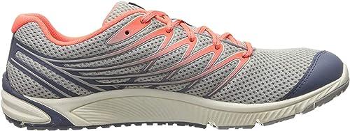 Trail Running Shoe, Sleet/Vibrant Coral