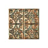"""Fasade - Traditional 1 Copper Fantasy Lay In Ceiling Tile / Ceiling Panel - Fast and Easy Installation (12"""" X 12"""" Sample)"""