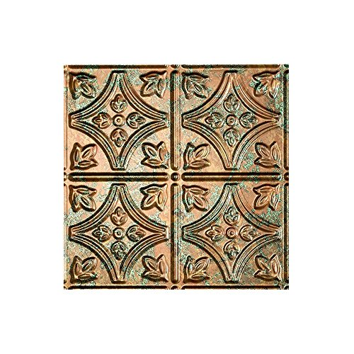 "Fasade - Traditional Style/Pattern #1 Copper Fantasy Lay In Ceiling Tile/Ceiling Panel - Fast and Easy Installation (12"" x 12"" Sample)"