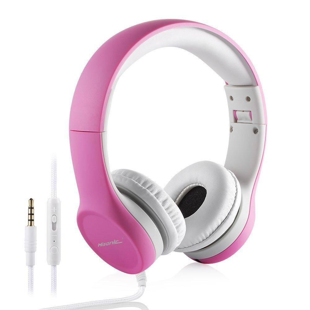 Auriculares Plegables para niños en Color Rosa, Hisonic: Amazon.es: Electrónica
