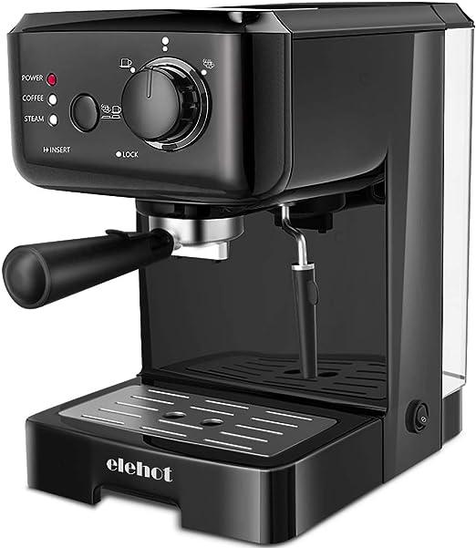 Cafetera Express Cafetera Espresso de Bomba Automática con Boquilla de Espuma de Leche Profesional Presión 15 Bares Capacidad 1.25L para café Capuchino Macchiato: Amazon.es: Hogar
