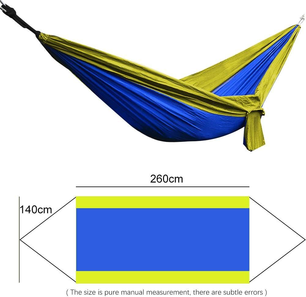 Campeggio terrazza per Trekking Giardino 275 x 140 cm VEGKEY Amaca da Viaggio Portata 300 kg Spiaggia con 2 moschettoni Viaggi Cortile