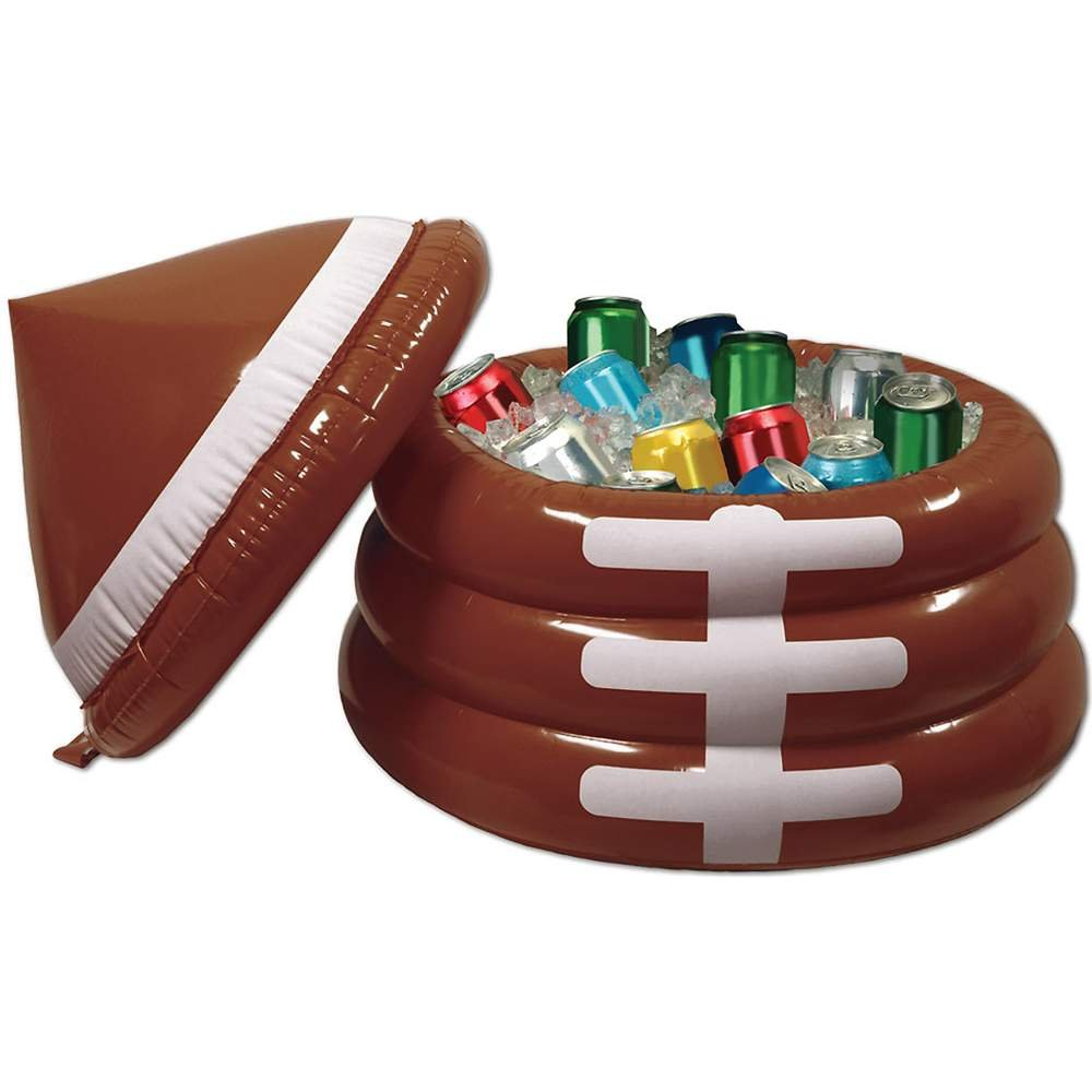Inflatable Football Cooler (holds apprx 24 12-Oz cans)