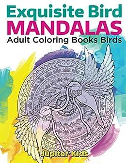 Exquisite Bird Mandalas Adult Coloring Books Birds And Art Book Series