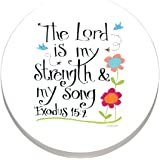 CounterArt Absorbent Stoneware Car Coaster, The Lord is My Strength