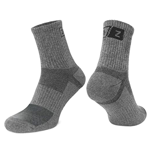 1b4da3f641531 281Z Hiking Cotton Cushioned Micro Crew Boot Socks - Moisture Wicking -  Odor Control - Outdoor