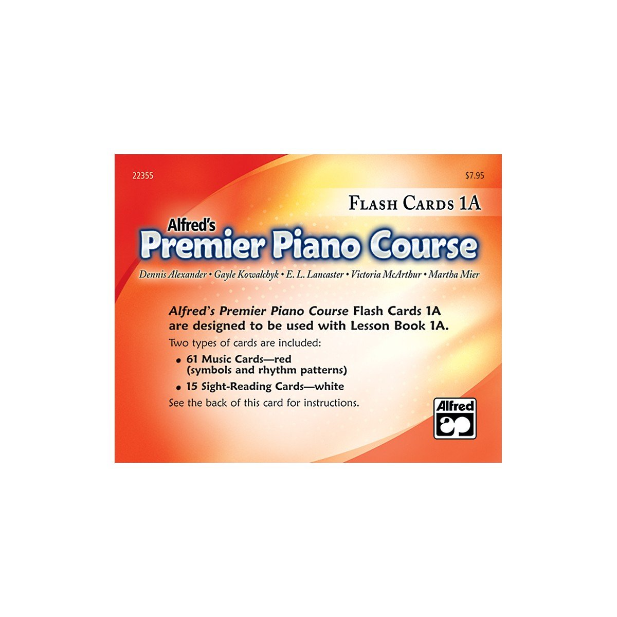 Premier Piano Course: Flash Cards, Level 1A: 0038081227979