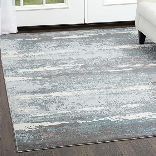Brooksville Area Rug by Christian Siriano and Home Dynamix | Plush Polyester Indoor Rug | Modern Style, Designer Fashion | Plush, Soft, Comfy (5' x 7', Blue 6273) by Home Dynamix