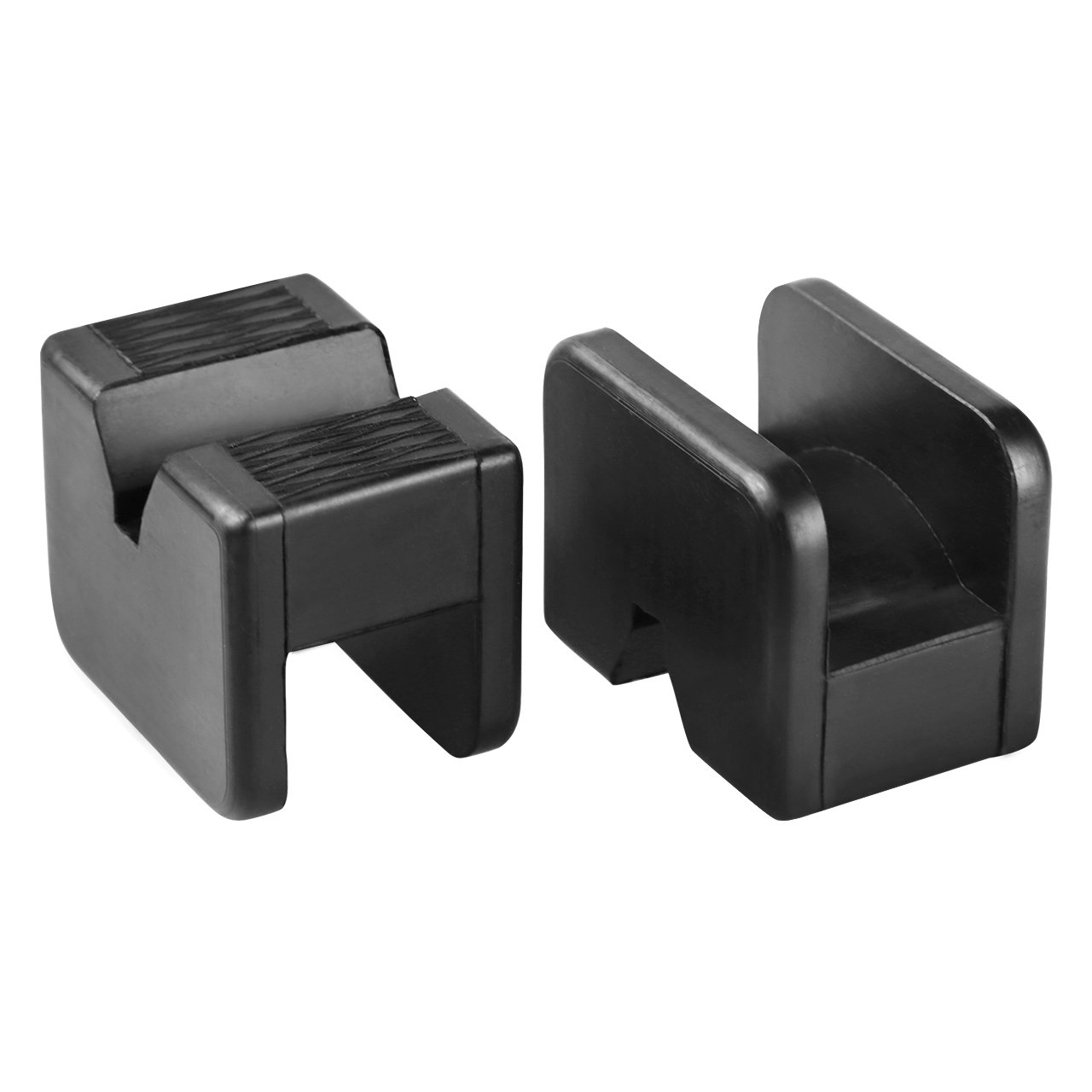 Rubber Pads for High Lift Steel Jack Stands MIHOME 2 Pack Jack Pads for Jack Stands Universal Slotted Frame Rubber Frame Rail Protector Pinch Weld Protector