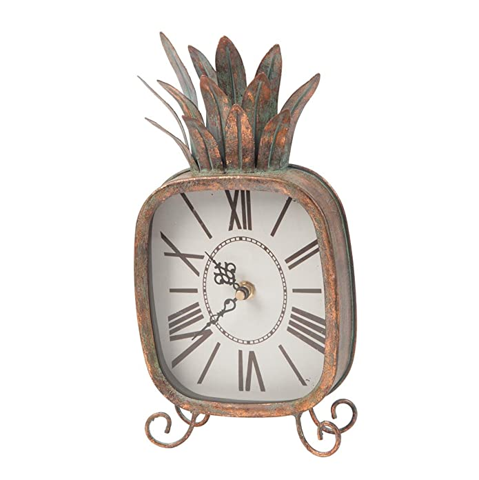 Foreside Home and Garden Pineapple Clock