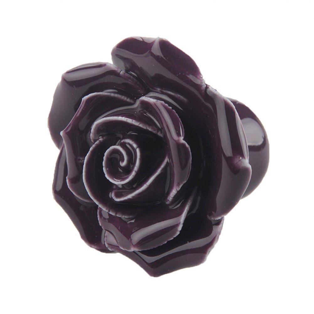 armadi; maniglia da tirare; 2 pezzi pomello per porta in ceramica cassetti cassetti della cucina mobili della cucina rosa Woopower a forma di rosa; pomello in stile vintage per armadietti