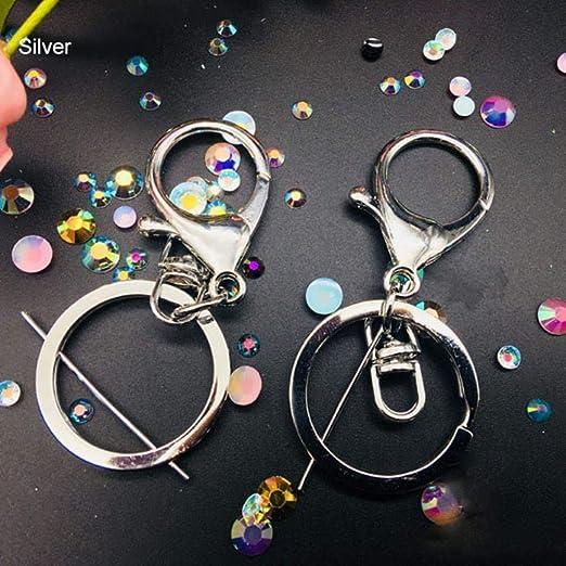 Llavero troquelado de metal con forma de corazón y cadena de ...
