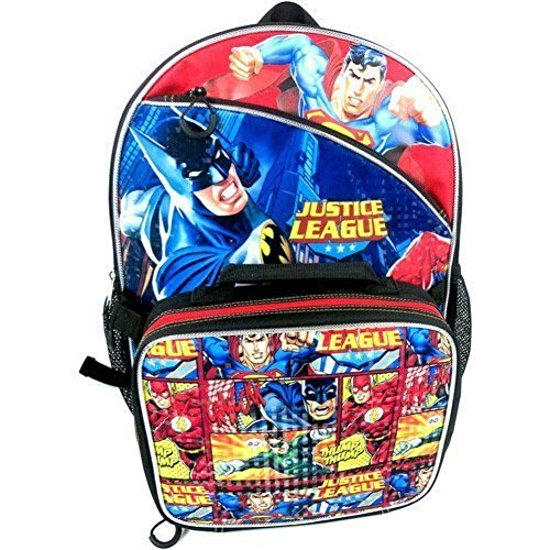 - Justice League 16 Backpack with Lunch Box Combo