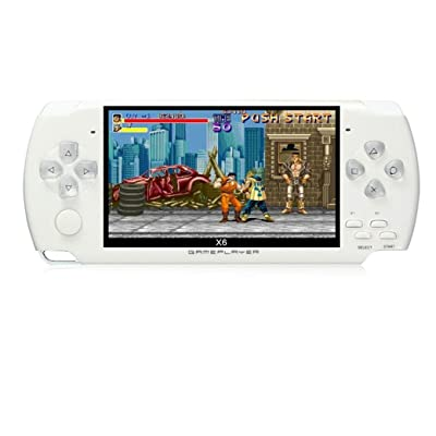 JXD 4.3 inch 8GB Handheld Portable Game Console Built in 1200+Real Video Games for gba/gbc/SFC/fc/SMD Games mp3/mp4/mp5/DV/DC Function (White): Computers & Accessories