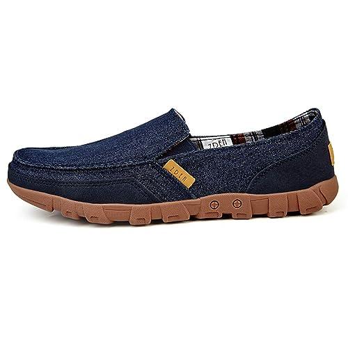 Zapatos de Lona Masculino Verano sólido cómodo luz de Encaje-hasta Mocasines Hombre Zapatos Casuales