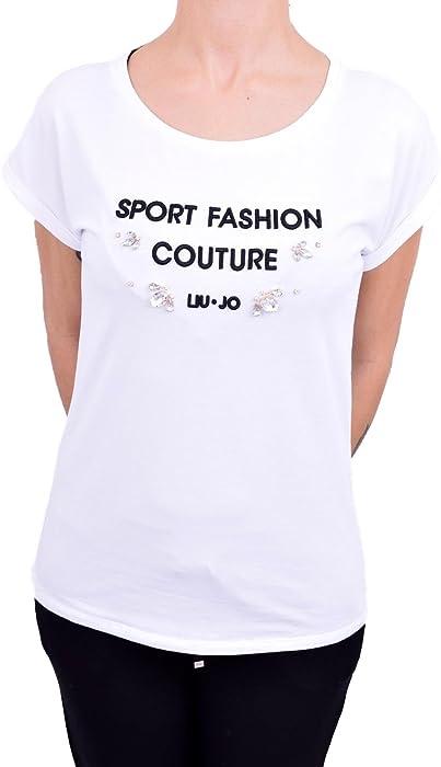 Liu-jo T18158J5431 T-shirt Donna Bianco Xs  Amazon.it  Abbigliamento ca8c7043573