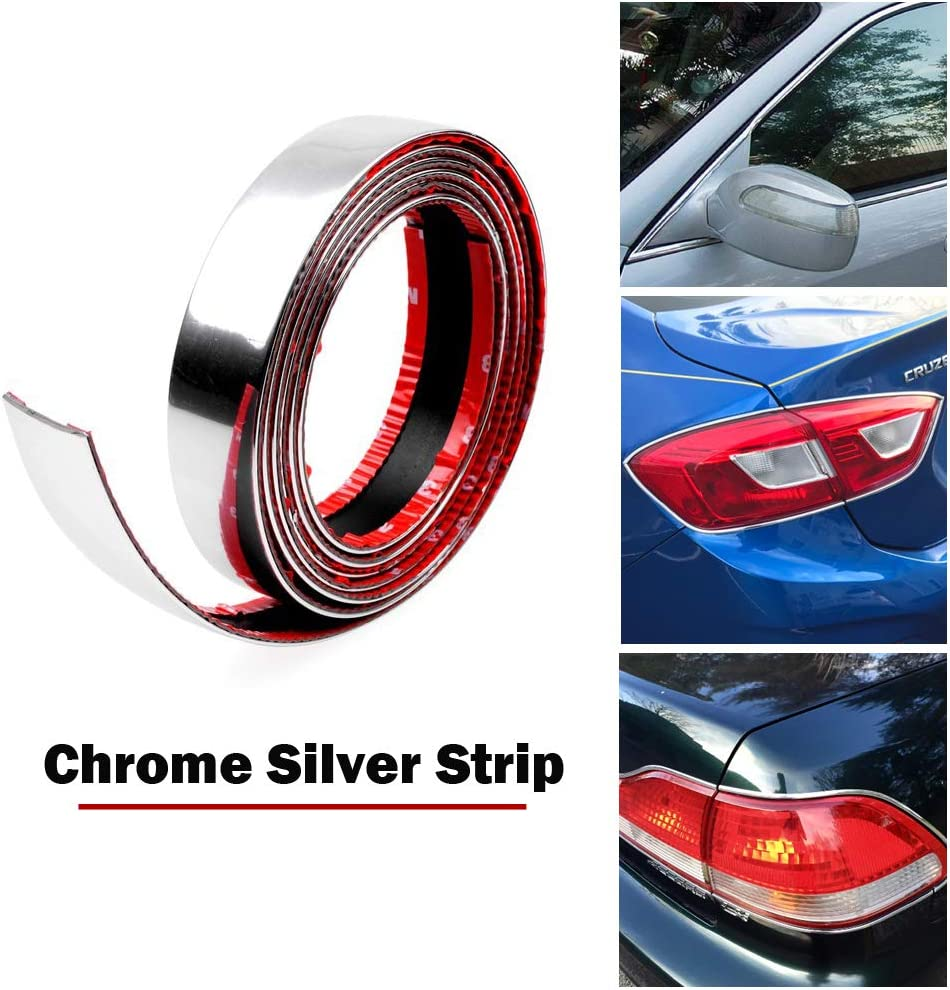 32ft Silver Auto Molding Trim Panel Edge Gap Decorate Line Interior Point DIY