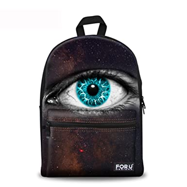 8aad4099f8d2 CHAQLIN Schoolbag Unique 3D Eye Fashion School Backpack Fits 15.6 inch  Laptop