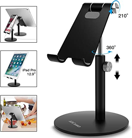 StillCool Universal Tablet Bed Ipad Stand Holder Frame Intersection Angle Easy Adjustment for iPad iPhone Samsung Galaxy Tab Upgraded Silver/&Black