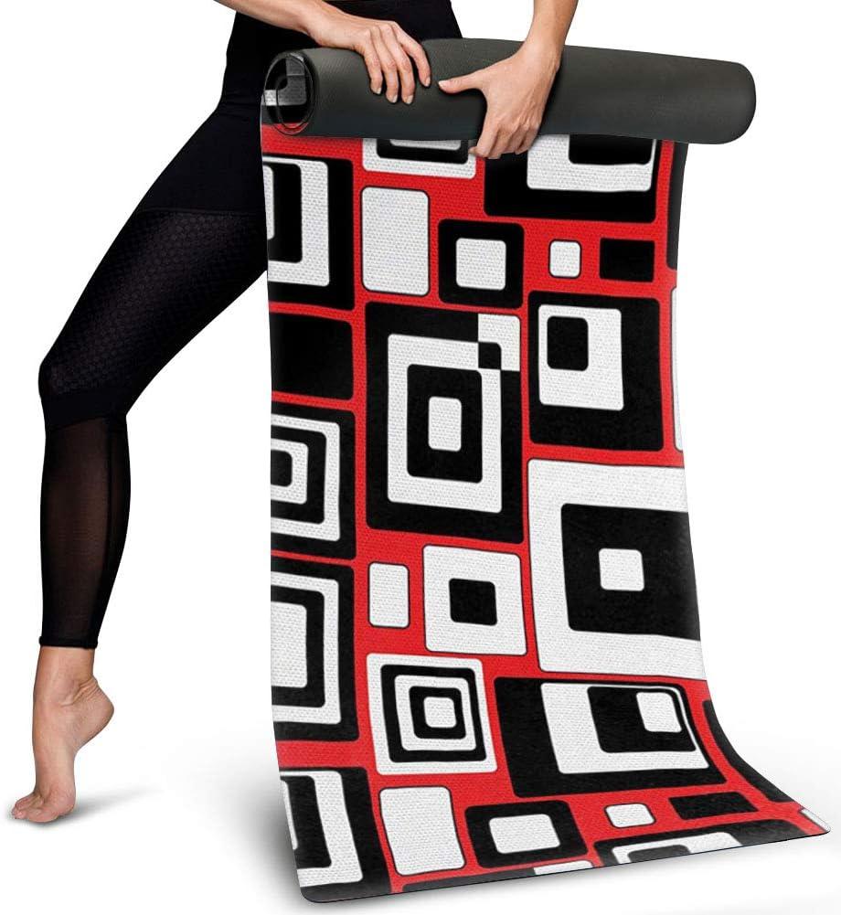 Alfombrilla de yoga Polero de 1/4 pulgadas para mujer, antideslizante, esterilla de yoga para el hogar, viajes, yoga, esterilla bohemia, mandala estampada de ante y goma