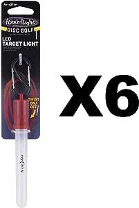 Nite Ize Flashflight Disc Golf LED Target Light Waterproof Glowstick (6-Pack)