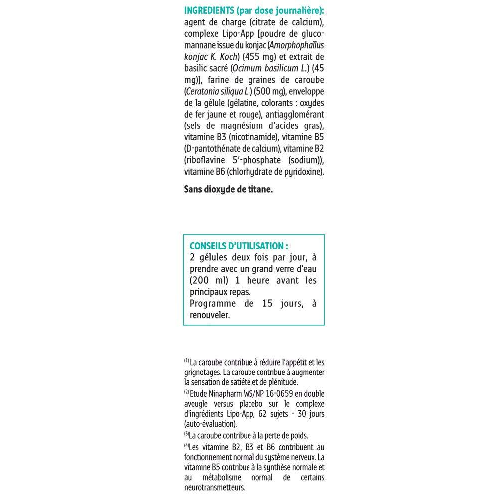 Forté Pharma xtraslim Copa hambre Xtra fuerte 60 Cápsulas | apetito y grignotages