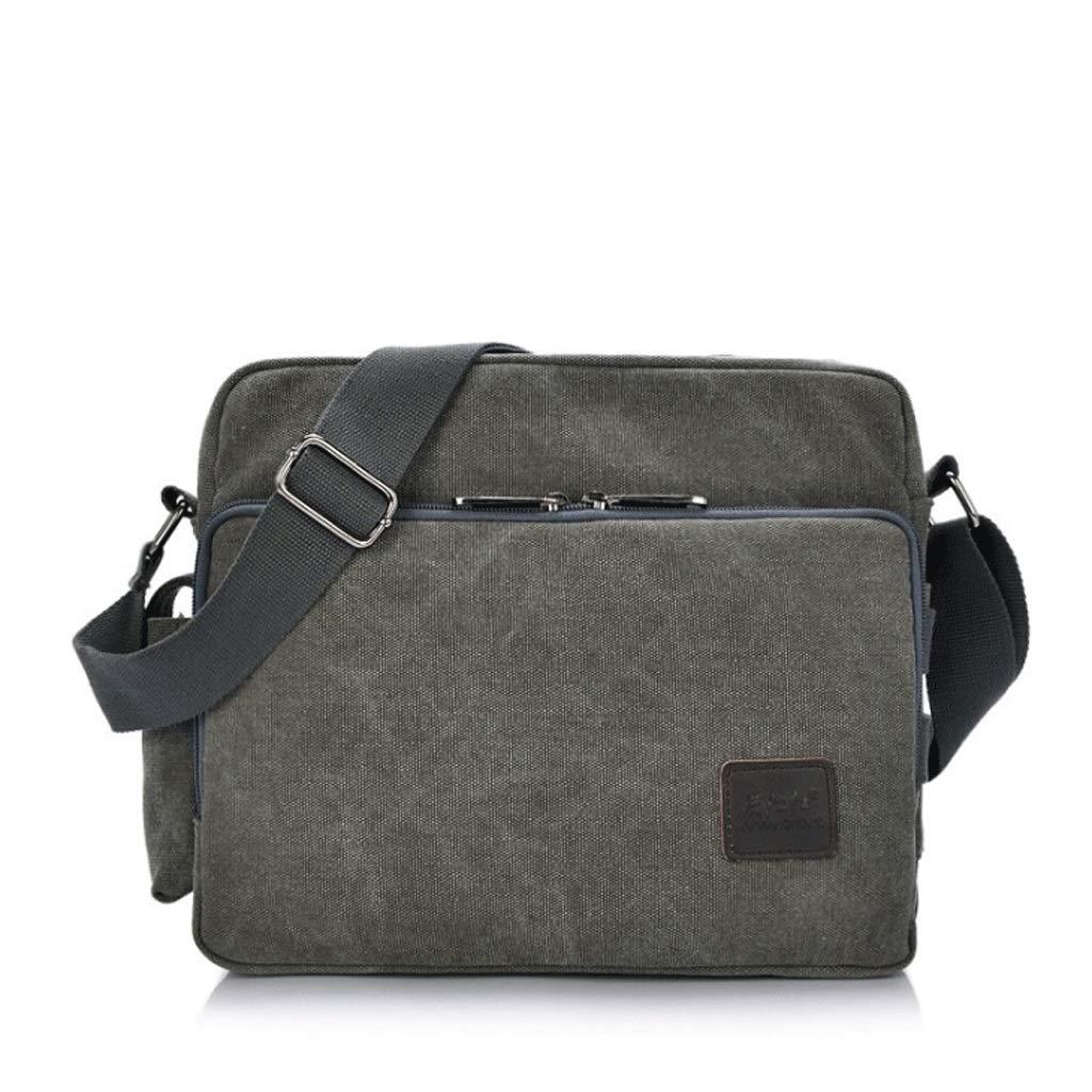 Color : 6#, Size : S DONGLU Business Canvas Bag Mens Retro Shoulder Bag