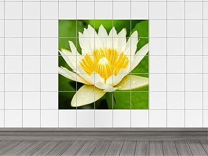 Piastrelle adesivo per bagno fiore floreale 60 x 60 cm 15 x 20 cm