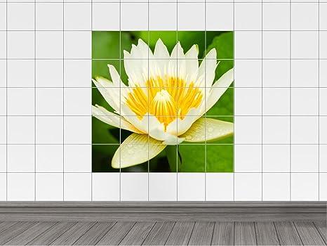 Piastrelle adesivo per bagno fiore floreale cm